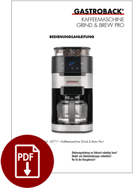 42711 - Coffee Machine Grind & Brew Pro - IM