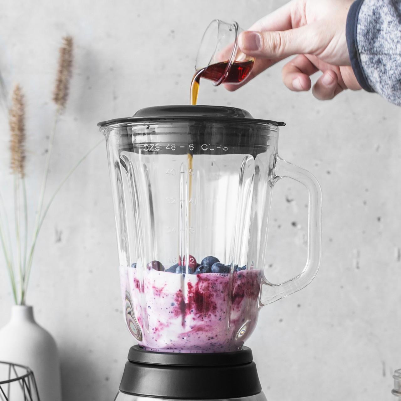Blaubeer-Smoothie mit Joghurt
