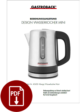 42436 - Design Wasserkocher Mini - BDA