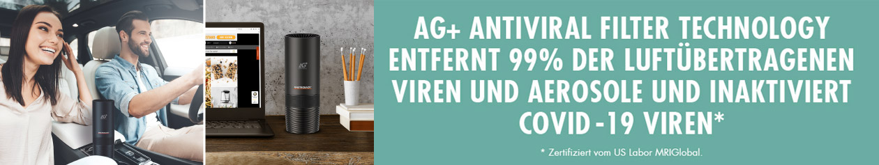 GASTROBACK® Luftreiniger AG+ AirProtect Portable mit AG+ Antiviral Technology