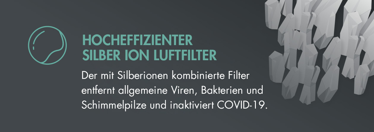 GASTROBACK® Luftreiniger AG+ AirProtect Portable - Silber Ion Luftfilter