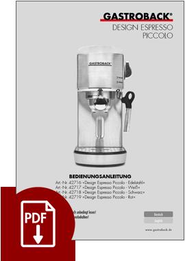 42718 - Design Espresso Piccolo - BDA