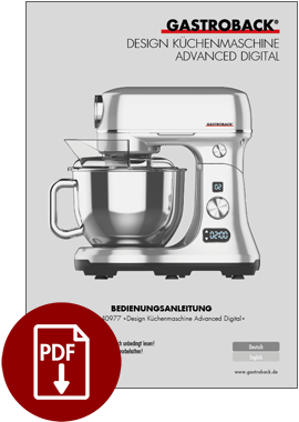 40977 - Design Küchenmaschine Advanced Digital - BDA