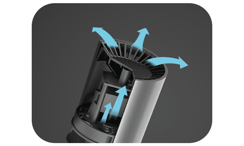 Luftreiniger AG+ AirProtect Portable - Stromlinienförmiger Luftauslass
