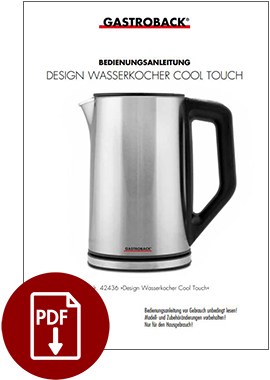 42436 - Design Wasserkocher Cool Touch - BDA