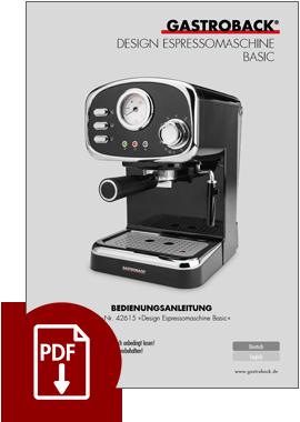 42615 - Design Espressomaschine Basic - BDA