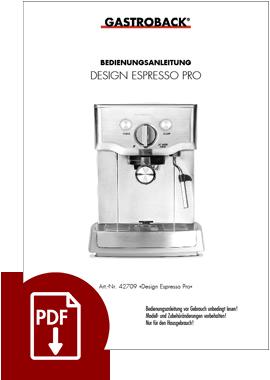 42709 - Design Espresso Pro - BDA