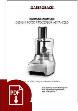 40965 - Design Foodprocessor Advanced - BDA
